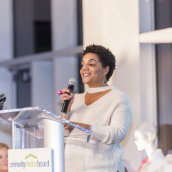 Christie Angel, co-chair of 2018 Wine Women & Shoes benefiting Community Shelter Board